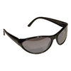 Morris Products Black Silver Mirror Lens Sporty Safety Glasses