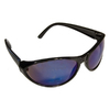 Morris Products Black Blue Mirror Lens Sporty Safety Glasses