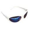 Morris Products Silver Blue Mirror Sporty Safety Glasses