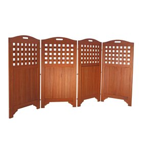 Shop vifah 47 in x 102 in natural wood outdoor privacy for Natural outdoor privacy screens