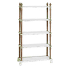 UMA Enterprises Weather Resistant Five Tier Wooden Etagere