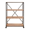 UMA Enterprises Portable Metal and Wood Shelf