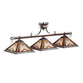 RAM Gameroom Products Laredo Rustic Iron Pool Table Lighting