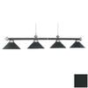 RAM Gameroom Products Black with Stainless Steel Accents Pool Table Lighting