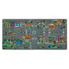 Learning Carpets 36-in W x 78-in L Green Play Mat
