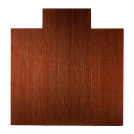 Anji Mountain Dark Cherry Chair Mat (Common: 4-Ft x 5-Ft; Actual: 55-in x 57-in)