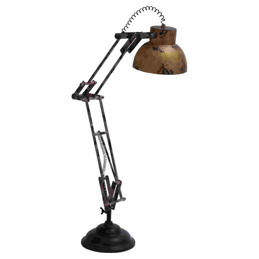 27 in adjustable clip on desk lamp with metal shade at. Black Bedroom Furniture Sets. Home Design Ideas