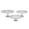 Woodland Imports 3-Pack Round Aluminum Cake Stands