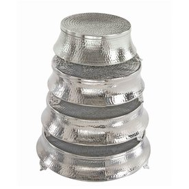Woodland Imports 4-Pack Round Aluminum Cake Stands