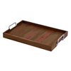 Woodland Imports 24-in x 16-in Wood Rectangle Serving Tray