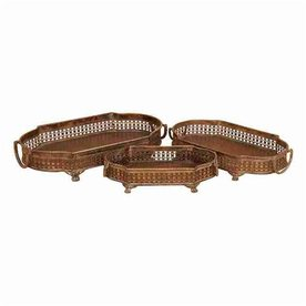 Woodland Imports Oval Serving Tray