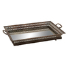 UMA Enterprises 22-in x 15-in Brown Rectangle Serving Tray