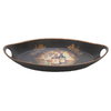 Woodland Imports 17-in x 10-in Ceramic Oval Serving Platter