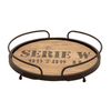 Woodland Imports 14-in x 14-in Wood Round Serving Tray