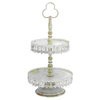 Woodland Imports White 2-Tier Round Candy Tray