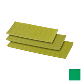Firefly Home Collection Vivre 15-in x 8-in Green Ceramic Rectangle Serving Tray