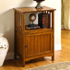 Furniture of America Sanca Antique Oak Rectangular Telephone Stand