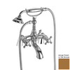 Nameeks Elizabeth Old Bronze 3-Handle Tub and Shower Faucet Trim Kit with Handheld Showerhead