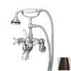 Cheviot Antique Bronze 3-Handle Tub and Shower Faucet with Handheld Showerhead