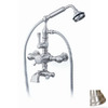 Cheviot Brushed Nickel 3-Handle Tub and Shower Faucet with Handheld Showerhead