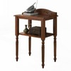 Monarch Specialties Dark Oak Oak Rectangular Telephone Stand