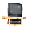 Fireside Lodge Furniture 21-in Corner Wood Wall TV Mount