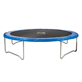 Pure Fun 14-ft Round Blue Backyard Trampoline