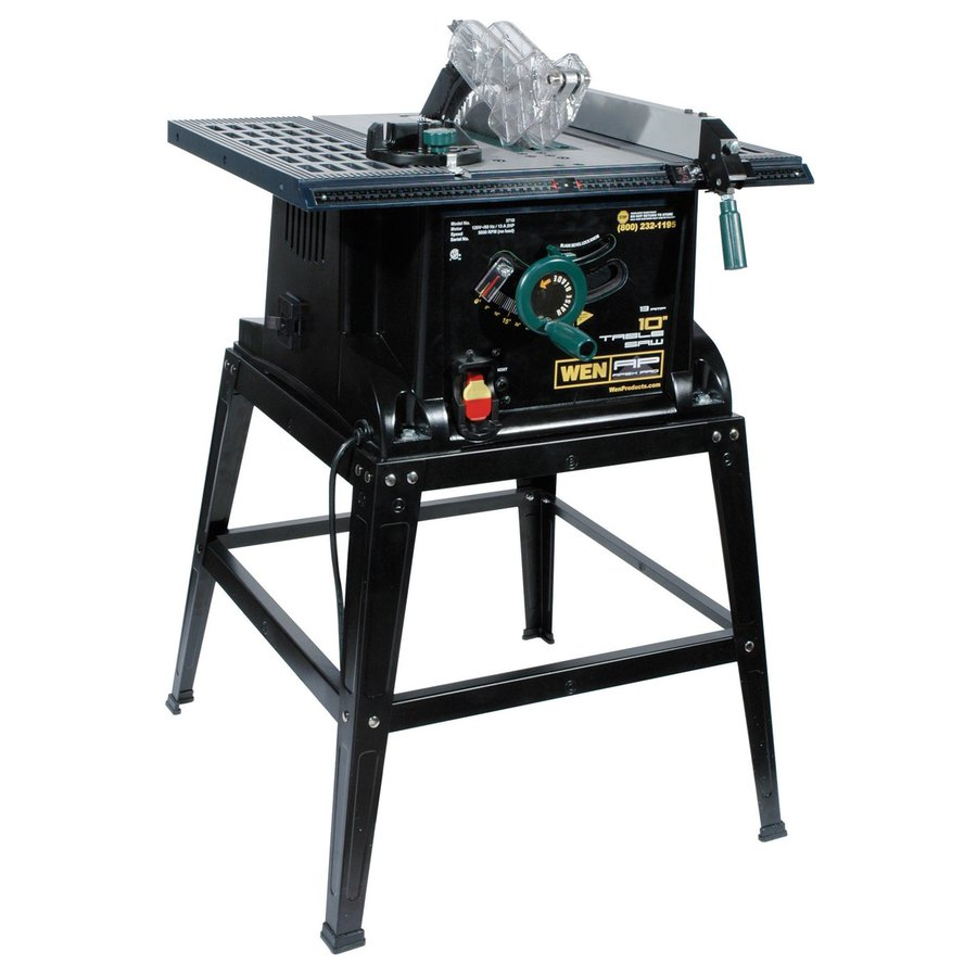 Shop wen 10 in table saw at for 10 inch table saw lowes