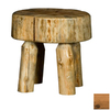 Viking Industries Log Honey Pine 18-in Small Stool