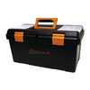 Homak 22.375-in Black Plastic Tool Box