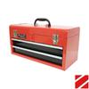 Homak 20-in 2-Drawer Red Steel Lockable Tool Box