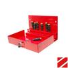 Homak 10.875-in Red Steel Lockable Tool Box