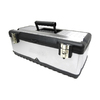 Homak 23.25-in Silver Steel Lockable Tool Box