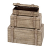 Woodland Imports Wood Storage Trunk