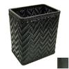 Redmon Elegante Black Plastic Wastebasket