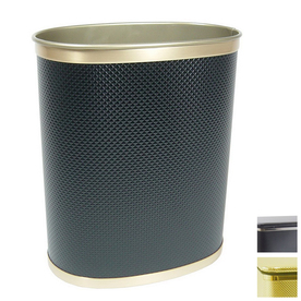 Shop redmon bath jewelry gold metal wastebasket at for Gold bathroom wastebasket