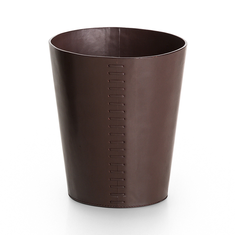 shop ws bath collections brown indoor garbage can at