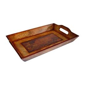 Cheung's 16.25-in x 10.25-in Brown Wood Rectangle Serving Tray