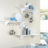 Style Selections 36-in Wood Wall Mounted Shelving