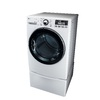 LG 7.3-cu ft Stackable Electric Dryer Steam Cycles (White)