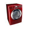LG 7.3-cu ft Stackable Electric Dryer Steam Cycles (Wild Cherry Red)