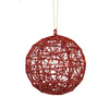 Holiday Living Red Wire Ball Ornament