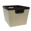 allen + roth 14-in W x 10-in H Beige Fabric Milk Crate
