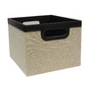 allen + roth 11-in W x 8-in H Beige Fabric Milk Crate