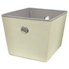 Style Selections 14-in W x 10-in H x 12-in D Cream Fabric Bin