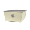Style Selections 14.25-in W x 5-in H x 9.5-in D Cream Fabric Bin