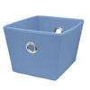 Style Selections 12-in W x 8-in H x 10-in D Blue Fabric Bin