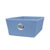 Style Selections 14.25-in W x 5-in H x 9.5-in D Blue Fabric Bin