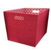 allen + roth 14.25-in W x 12-in H x 18-in D Red Fabric Bin