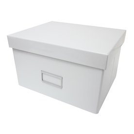 Harvey Lewis 10.25-in W x 6.125-in H x 8.25-in D White Foldable Paper Box